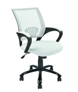 Mid Back Mesh Ergonomic Computer Chair White