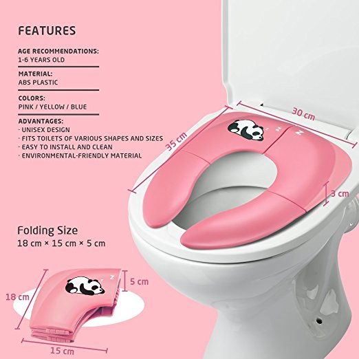 Jerrybox Foldable Travel Potty Seat